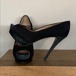 Zara Shoes - Zara Suede Platform Heels